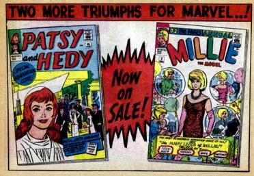 Publicité pour les comics Patsy Walker et Millie - © https://flic.kr/p/9stZ43
