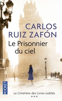 Editions Pocket - © http://www.pocket.fr/site/le_prisonnier_du_ciel_&104&9782266234009.html?RECHA=ruiz+zaf%F3n