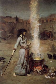 Le Cercle Magique de John William Waterhouse - © http://fr.wikipedia.org/wiki/Sorcier#mediaviewer/File:John_William_Waterhouse_-_Magic_Circle.JPG