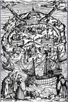 Gravure d'Utopia datant de 1518 - http://commons.wikimedia.org/wiki/File:Utopia.jpg#/media/File:Utopia.jpg